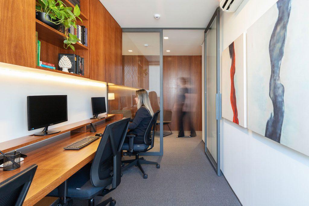 Decoração de escritório de advocacia - área de trabalho