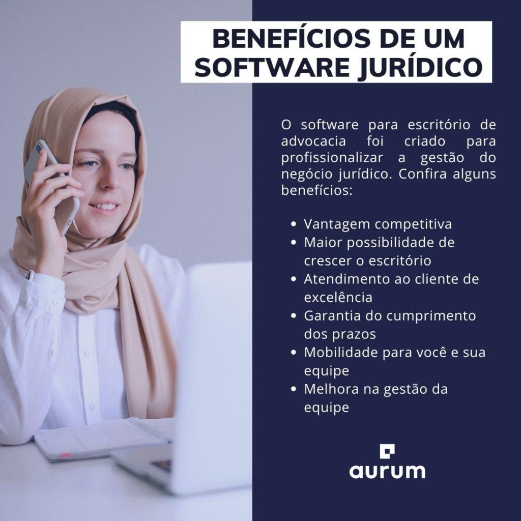 Lista de benefícios de um software jurídico
